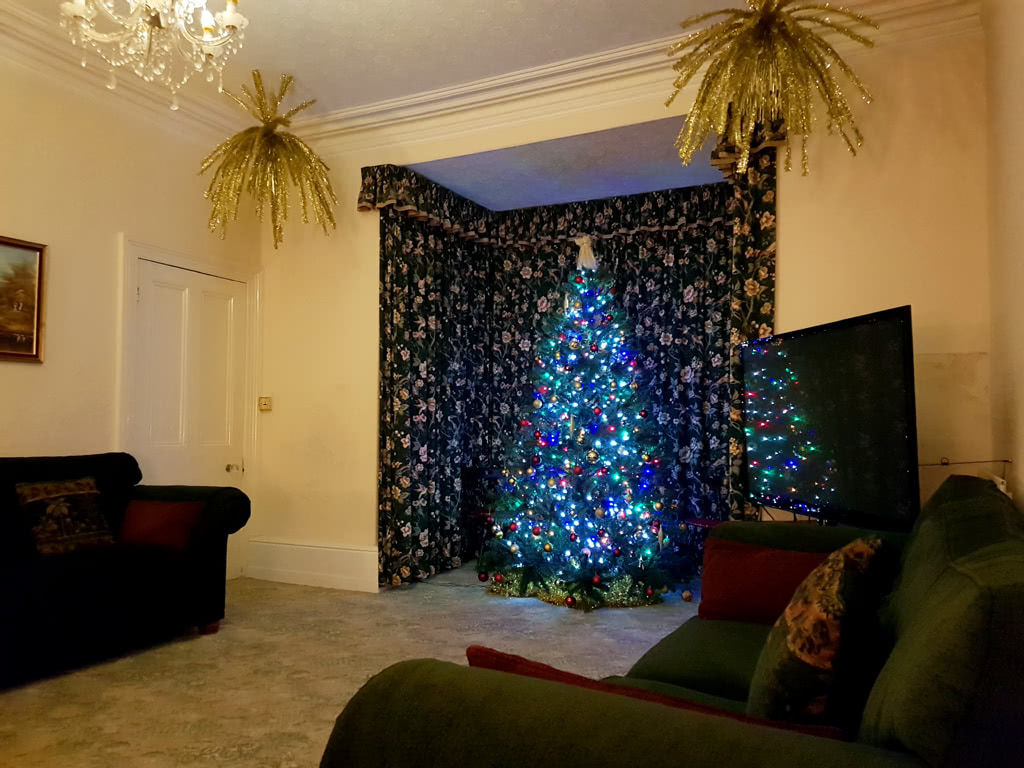 Christmas at the Grange, the lounge towards the bay window