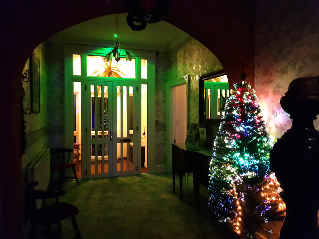 Christmas at the Grange, the hall towards the door