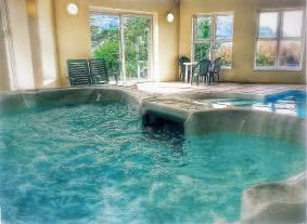 Or you can relax in the hot tub